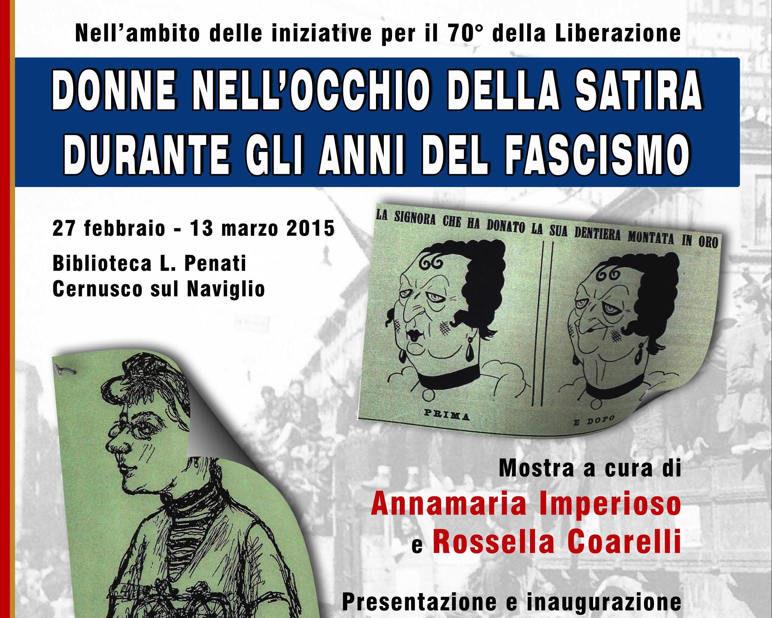 """""""Donne nell'occhio della satira durante il Fascismo"""": una mostra di vignette a Cernusco"""