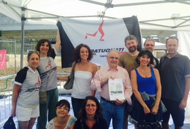 I Maratuonati di Torino lasciano la firma a piazza Costellazione