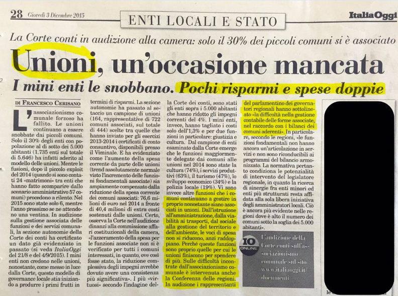 """""""Unione dei Comuni della Martesana: non solo spreco e centralismo cernuschese"""""""