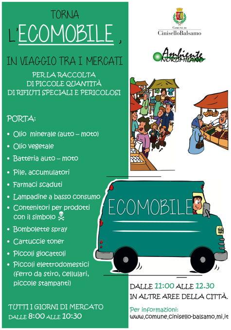 Torna l'Ecomobile, in viaggio tra i mercati  e nelle aree di sosta della città