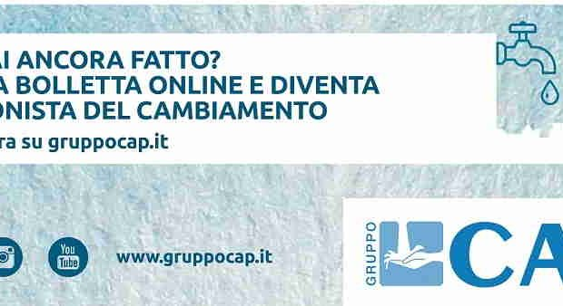 Nuova bolletta firmata Gruppo CAP
