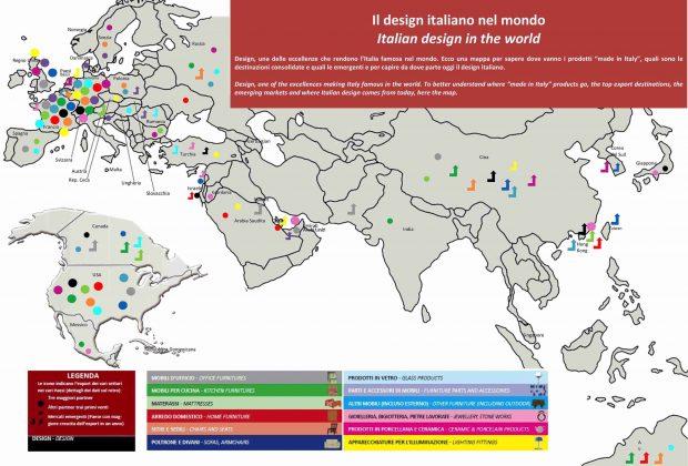 22 miliardi di design Made in Italy nel mondo: ecco dove va