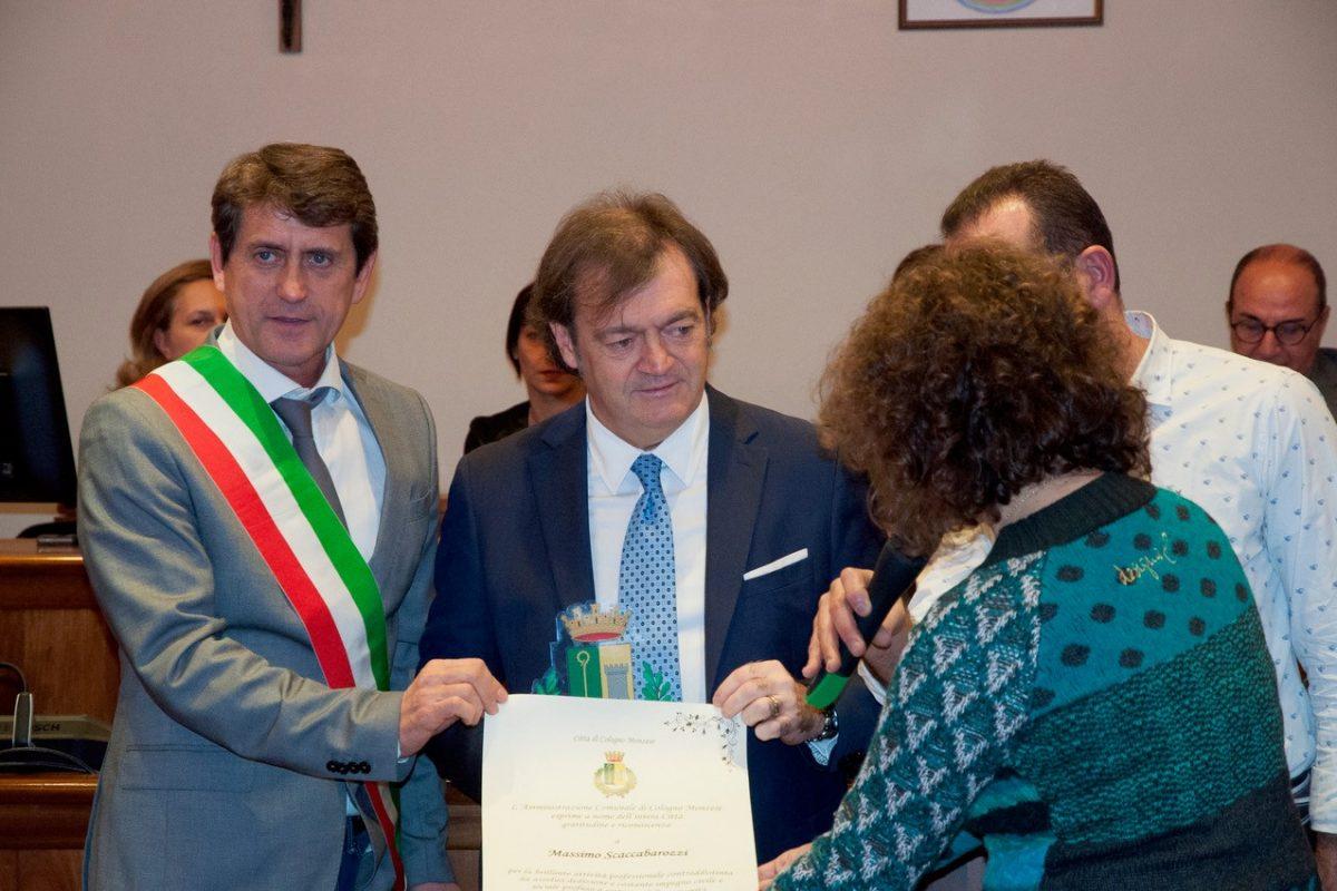 A Massimo Scaccabarozzi il riconoscimento del Comune per la brillante attività professionale e l'impegno verso la Comunità