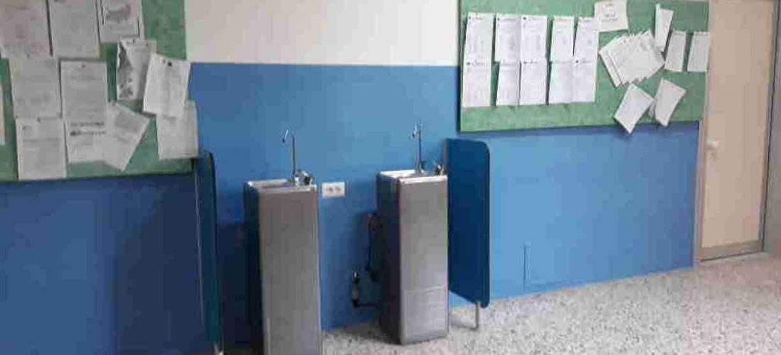 Scuola Forlanini: installate colonnine d'acqua potabile per sensibilizzare gli studenti