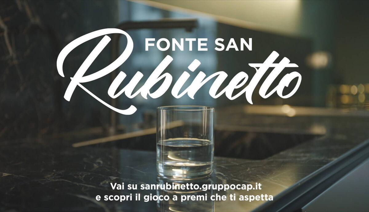 Uno spot e un concorso istant win per promuovere l'acqua San Rubinetto